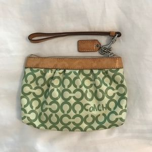 Coach Coated Canvas Wristlet